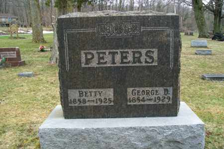 PETERS, GEORGE D. - Logan County, Ohio | GEORGE D. PETERS - Ohio Gravestone Photos