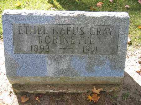 ROBINETTL, ETHEL NAFUS GRAY - Logan County, Ohio | ETHEL NAFUS GRAY ROBINETTL - Ohio Gravestone Photos