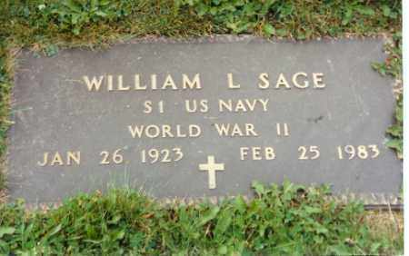 SAGE, WILLIAM L. - Logan County, Ohio | WILLIAM L. SAGE - Ohio Gravestone Photos