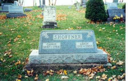 SHOFFNER, LEROY - Logan County, Ohio | LEROY SHOFFNER - Ohio Gravestone Photos