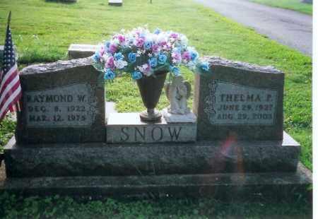SNOW, THELMA P. - Logan County, Ohio | THELMA P. SNOW - Ohio Gravestone Photos