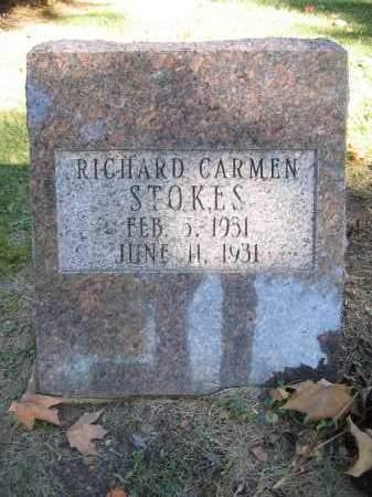 STOKES, RICHARD CARMEN - Logan County, Ohio | RICHARD CARMEN STOKES - Ohio Gravestone Photos