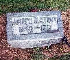 STOUT, JOSEPH W - Logan County, Ohio | JOSEPH W STOUT - Ohio Gravestone Photos