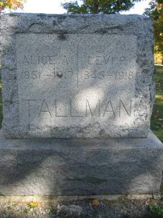 TALLMAN, ALICE A. - Logan County, Ohio | ALICE A. TALLMAN - Ohio Gravestone Photos