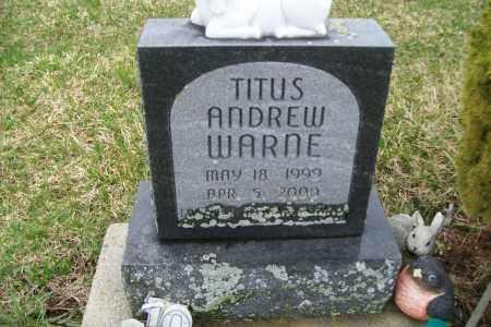 WARNE, TITUS ANDREW - Logan County, Ohio | TITUS ANDREW WARNE - Ohio Gravestone Photos