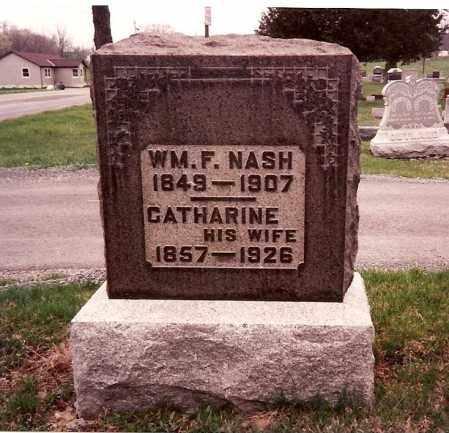 NASH, WILLIAM F. - Logan County, Ohio | WILLIAM F. NASH - Ohio Gravestone Photos