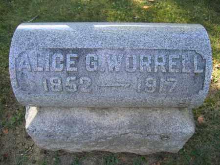 WORRELL, ALICE G. - Logan County, Ohio   ALICE G. WORRELL - Ohio Gravestone Photos