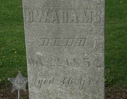 ADAMS, B.W. - Lorain County, Ohio | B.W. ADAMS - Ohio Gravestone Photos