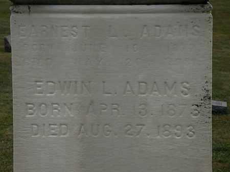 ADAMS, EDWIN L. - Lorain County, Ohio | EDWIN L. ADAMS - Ohio Gravestone Photos