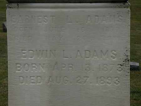 ADAMS, EARNEST L. - Lorain County, Ohio | EARNEST L. ADAMS - Ohio Gravestone Photos