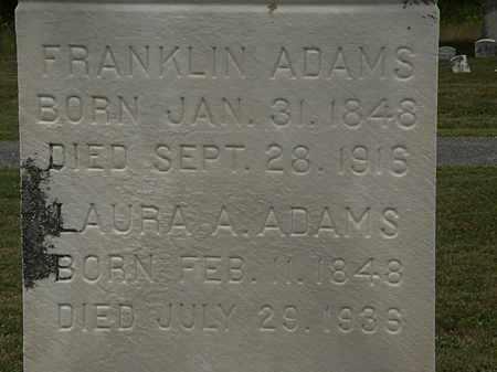 ADAMS, FRANKLIN - Lorain County, Ohio   FRANKLIN ADAMS - Ohio Gravestone Photos