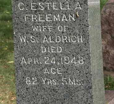 FREEMAN ALDRICH, C. ESTELLA - Lorain County, Ohio | C. ESTELLA FREEMAN ALDRICH - Ohio Gravestone Photos