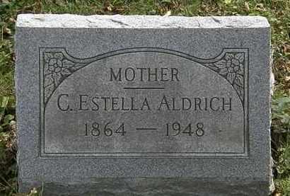 ALDRICH, C. ESTELLA - Lorain County, Ohio | C. ESTELLA ALDRICH - Ohio Gravestone Photos