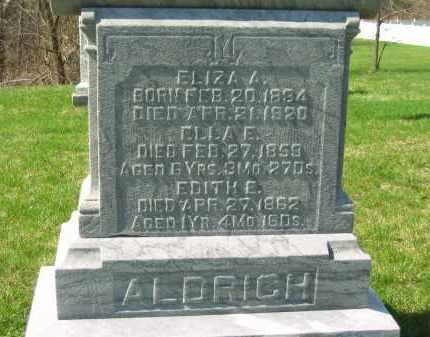 ALDRICH, ELLA E. - Lorain County, Ohio | ELLA E. ALDRICH - Ohio Gravestone Photos