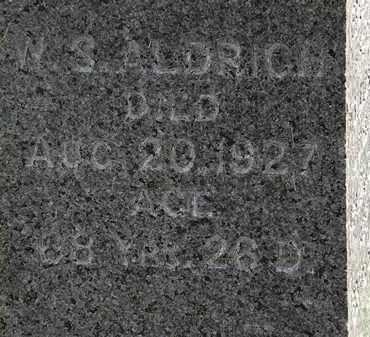 ALDRICH, W.S. - Lorain County, Ohio | W.S. ALDRICH - Ohio Gravestone Photos