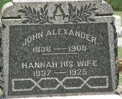ALEXANDER, HANNAH - Lorain County, Ohio   HANNAH ALEXANDER - Ohio Gravestone Photos