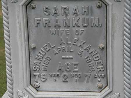 ALEXANDER, SARAH - Lorain County, Ohio | SARAH ALEXANDER - Ohio Gravestone Photos