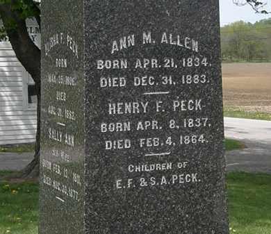 ALLEN, ANN M. - Lorain County, Ohio | ANN M. ALLEN - Ohio Gravestone Photos