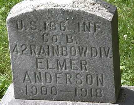 ANDERSON, ELMER - Lorain County, Ohio | ELMER ANDERSON - Ohio Gravestone Photos