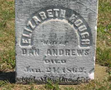 ANDREWS, ELIZABETH - Lorain County, Ohio | ELIZABETH ANDREWS - Ohio Gravestone Photos