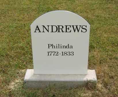 ANDREWS, PHILINDA - Lorain County, Ohio   PHILINDA ANDREWS - Ohio Gravestone Photos