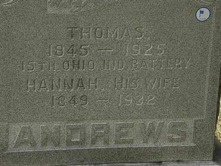 ANDREWS, HANNAH - Lorain County, Ohio   HANNAH ANDREWS - Ohio Gravestone Photos