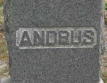 ANDRUS, FAMILY MARKER - Lorain County, Ohio | FAMILY MARKER ANDRUS - Ohio Gravestone Photos