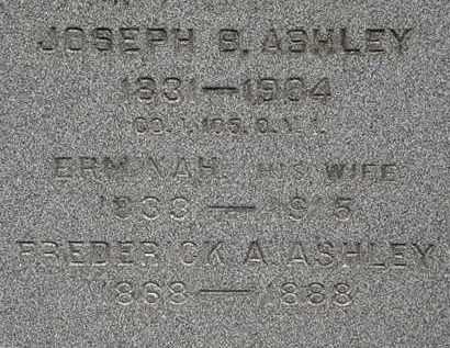 ASHLEY, ERMINAH - Lorain County, Ohio   ERMINAH ASHLEY - Ohio Gravestone Photos