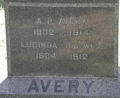AVERY, A.P. - Lorain County, Ohio | A.P. AVERY - Ohio Gravestone Photos