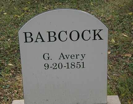 BABCOCK, G. AVERY - Lorain County, Ohio | G. AVERY BABCOCK - Ohio Gravestone Photos