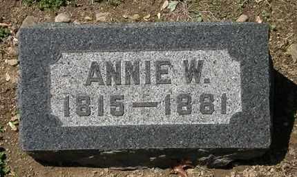 BACON, ANNIE W. - Lorain County, Ohio   ANNIE W. BACON - Ohio Gravestone Photos