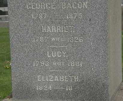 BACON, HARRIET - Lorain County, Ohio | HARRIET BACON - Ohio Gravestone Photos