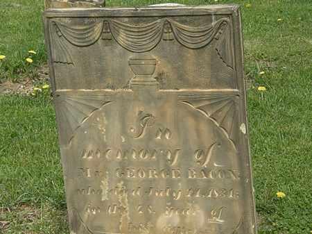 BACON, GEORGE - Lorain County, Ohio | GEORGE BACON - Ohio Gravestone Photos
