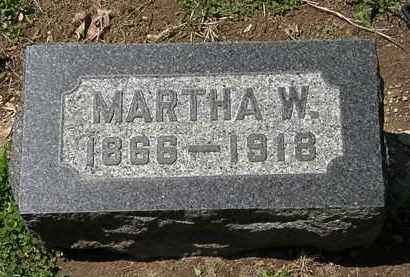 BACON, MARTHA W. - Lorain County, Ohio | MARTHA W. BACON - Ohio Gravestone Photos
