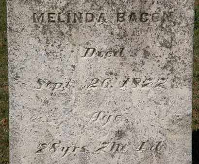 BACON, MELINDA - Lorain County, Ohio | MELINDA BACON - Ohio Gravestone Photos