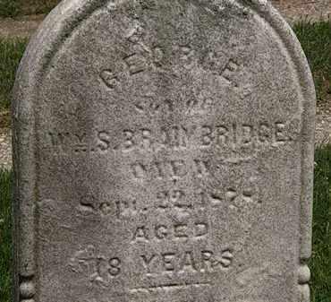 BRAIMBRIDGE, GEORGE - Lorain County, Ohio   GEORGE BRAIMBRIDGE - Ohio Gravestone Photos
