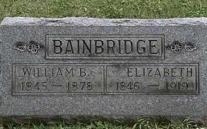 BAINBRIDGE, WILLIAM B. - Lorain County, Ohio | WILLIAM B. BAINBRIDGE - Ohio Gravestone Photos