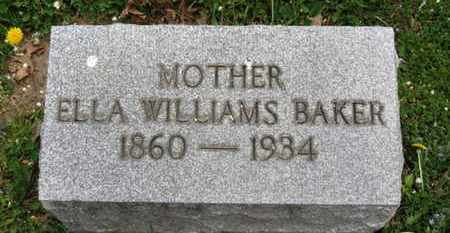 BAKER, ELLA - Lorain County, Ohio | ELLA BAKER - Ohio Gravestone Photos