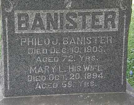 BANISTER, PHILO J. - Lorain County, Ohio | PHILO J. BANISTER - Ohio Gravestone Photos