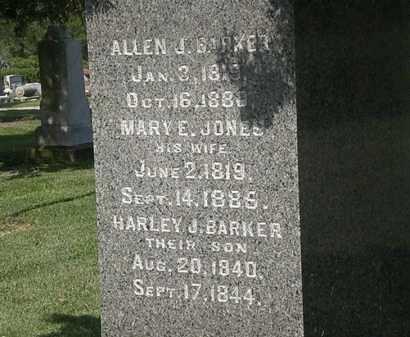 BARKER, MARY E. - Lorain County, Ohio | MARY E. BARKER - Ohio Gravestone Photos