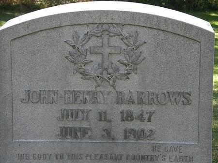 BARROWS, JOHN HENRY - Lorain County, Ohio | JOHN HENRY BARROWS - Ohio Gravestone Photos