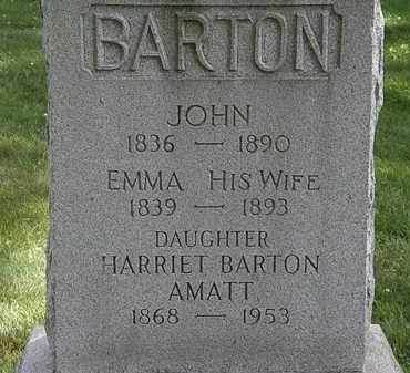 BARTON AMATT, HARRIET - Lorain County, Ohio | HARRIET BARTON AMATT - Ohio Gravestone Photos