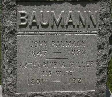 BAUMANN, KATHARINE A. - Lorain County, Ohio | KATHARINE A. BAUMANN - Ohio Gravestone Photos