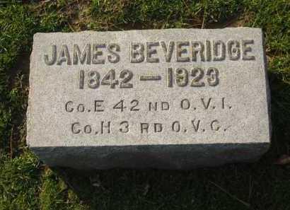 BEVERIDGE, JAMES - Lorain County, Ohio | JAMES BEVERIDGE - Ohio Gravestone Photos