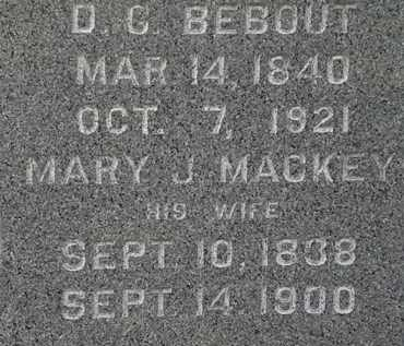 MACKEY BEBOUT, MARY J. - Lorain County, Ohio   MARY J. MACKEY BEBOUT - Ohio Gravestone Photos
