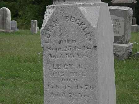 BECKLEY, LUCY K. - Lorain County, Ohio   LUCY K. BECKLEY - Ohio Gravestone Photos