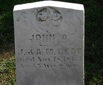 BEDE, JOHN A. - Lorain County, Ohio   JOHN A. BEDE - Ohio Gravestone Photos