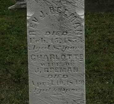 BEEMAN, REV. J. - Lorain County, Ohio | REV. J. BEEMAN - Ohio Gravestone Photos