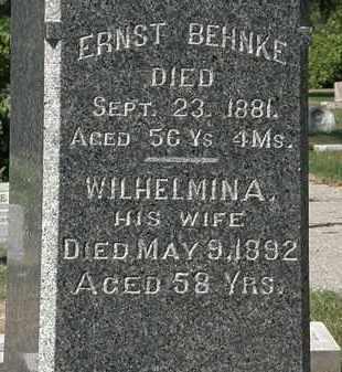 BEHNKE, ERNEST - Lorain County, Ohio | ERNEST BEHNKE - Ohio Gravestone Photos