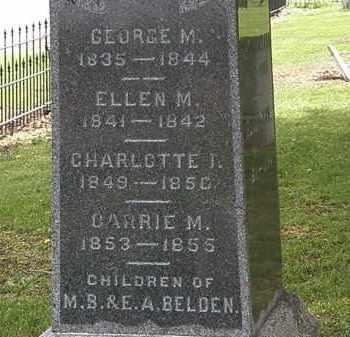BELDEN, ELLEN M. - Lorain County, Ohio | ELLEN M. BELDEN - Ohio Gravestone Photos